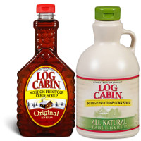 Print a coupon for $0.50 off any Log Cabin Syrup