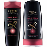 Print a coupon for $1 off one L'Oreal Paris Advanced Haircare Shampoo, Conditioner or Treatment product