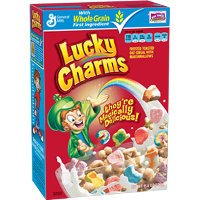Print a coupon for $0.50 off a box of Lucky Charms, Chocolate Lucky Charms or Lucky Charms Frosted Flakes cereal