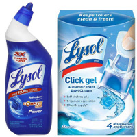 Save $0.75 on one Lysol Toilet Bowl Cleaner and one Click Gel Automatic Toilet Bowl Cleaner
