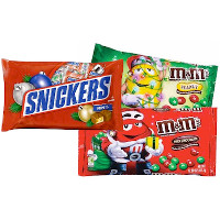 Print a coupon for $1 off any two Holiday M+M's, Snickers, Milky Way, Dove, Mini Mix, Twix or 3 Musketeer products