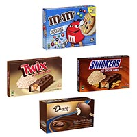 Print a coupon for $1 off any Snickers, Dovebar, M+M's, Milky Way or Twix Ice Cream Multi-Pack