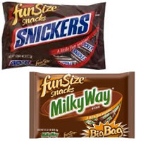 Save $1 on any two Mars Fun Size Halloween Bags of candy