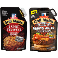 Save $0.50 on off any McCormick Grill Mates Single Use Marinade or Steakhouse Burger Sauce Mix-Ins