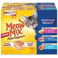 BOGO - Buy 4 Meow Mix Wet Cat Food cups and get 2 Free