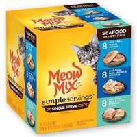 Print a coupon for $1.25 off one Meow Mix Simple Servings 12 or 24-pack