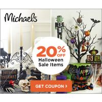 Print a coupon for 20% off Halloween Floral and Decor at Michaels