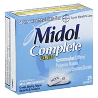 Print a coupon for $1 off one Midol product, 24 ct. or larger