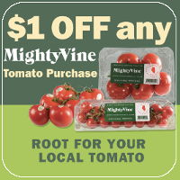 Print a coupon for $1 off MightyVine Fresh Tomatoes