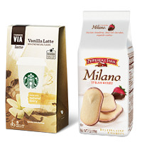 Save $2.25 when you buy one bag of Pepperidge Farm Milano Cookies and any Starbucks VIA product