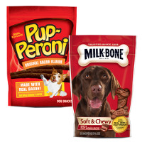 Save $1 on any two Milk-Bone, Pup-Peroni or Milo's Kitchen Dog Snacks