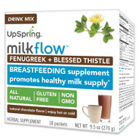 Print a coupon for $2 off UpSpring Milkflow Fenugreek + Blessed Thistle Powder Drink Mix