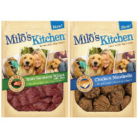 Print a coupon for $1 off one bag of Milo's Kitchen Dog Treats