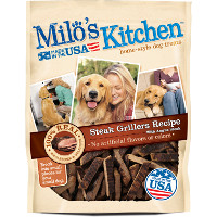 Print a coupon for $3 off one bag of Milo's Kitchen Treats