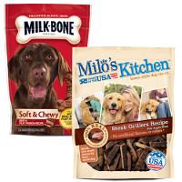 Save $1 on any two Milo's Kitchen and Milk-Bone Dog Snacks