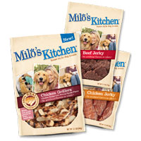 Save $1 on any two bags of Milo's Kitchen dog snacks