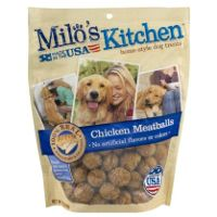 Print a coupon for $1.50 off any Milo's Kitchen Dog Treat product
