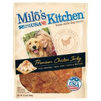 Print a coupon for $3 off a bag of Milo's Kitchen Dog Treats, 7oz. or larger
