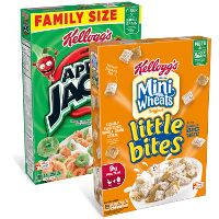Print a coupon for $1 off 2 boxes of Frosted Mini-Wheats Little Bites, Apple Jacks, Honey Smacks and/or Corn Pops Cereal