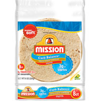 Save $0.55 on a package of Mission Soft Taco Tortillas