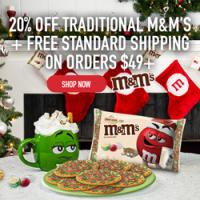 Make the memories sweeter with personlized M+M's - Get 20% off and Free Shipping on your next order