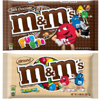 Save $1 on two bags of M+M's Brand Chocolate Candies, 8oz. or larger