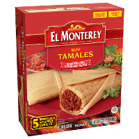 Print a coupon for $0.75 off one pack of El Monterey Tamales
