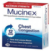 Print a coupon for $4 off any two Mucinex products, 28ct. or larger