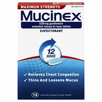 Print a coupon for $2 off any Mucinex product, 14ct. or larger