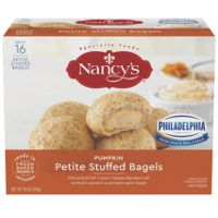 Print a coupon for $1 off a box of Nancy's Petite Stuffed Pumpkin Bagels