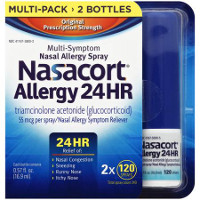 Save $5 on Nasacort Allergy 24 HR 2X 120 Spray Multi-Pack or 120 Spray