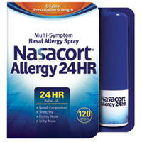 Print a coupon for $8 off any two Nasacort Allergy 24 HR 120 Spray or XYZAL Allergy 24HR tablets
