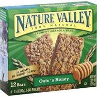 Save $0.50 on two boxes of Nature Valley Protein Crunchy Granola bars