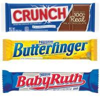 Print a coupon for $0.50 off two Butterfinger, Nestle Crunch, Baby Ruth or 100 Grand Candy Bars