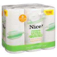 Save $1 on a 6 Roll pack of Ultra Quilted Nice Paper Towels  at Walgreens