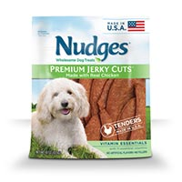 Save $1.50 on one bag of Nudges Dog Treats, 10 oz or larger