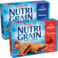 Print a coupon for $0.50 off two boxes of Kellogg's Nutri-Grain bars