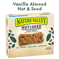 Print a coupon for $0.50 off Nature Valley Nut + Seed Granola Bars