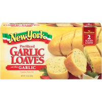 Print a coupon for $0.50 off one New York Bakery Frozen Garlic Bread product