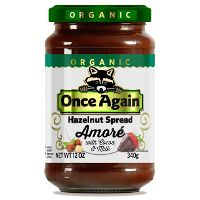 Print a coupon for $1 off a 12oz. jar of Once Again Nut Butter Amore Hazelnut Spread