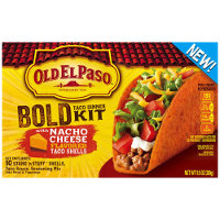 Save $0.75 on Old El Paso Bold Flavored Stand 'N Stuff Taco Shells or Dinner Kit