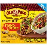 Print a coupon for $0.50 off one Old El Paso Taco Dinner Kit or Taco Bowls