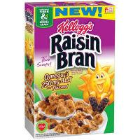Print a coupon for $1 off two Kellogg's Raisin Bran Cereals