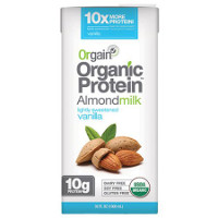 Print a coupon for $1.50 off one container of Orgain Organic Protein Almond Milk