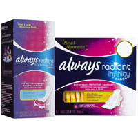 Save $1.50 on two Always Infinity Pads