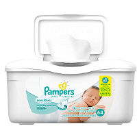 Print a coupon for $0.50 off Pampers Wipes, 50ct. - 150ct.