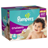 Save $2 on one box or two bags of Pampers Cruisers Diapers