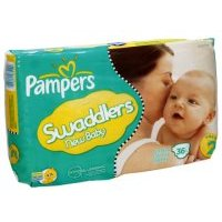 Save $1.50 on one package of Pampers Swaddlers Diapers