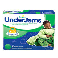 Save $1.50 on one package of Pampers UnderJams