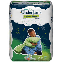 Print a coupon for $1.50 off Pampers UnderJams Absorbent Night Wear